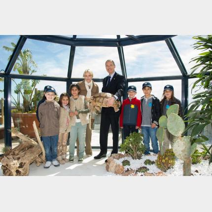 Inaugurated of «The Turtle Island» by H.S.H. Princess Charlène of Monaco at the Oceanographic Museum