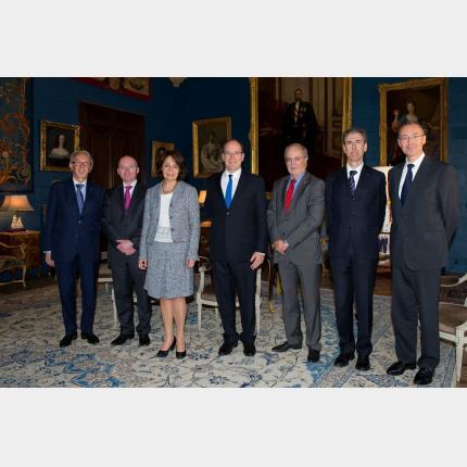 S.A.S. le Prince a reçu au Palais princier Mme Maria Damanaki, Commissaire européenne aux Affaires Maritimes et à la Pêche