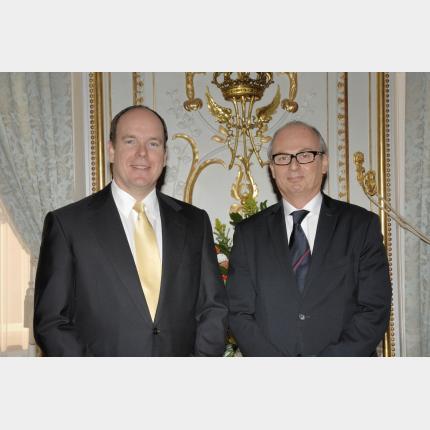 Remise des Lettres de créance de S.E. M Daniel SHEK , Ambassadeur extraordinaire et plénipotentiaire d'Israël auprès de la Principauté de Monaco