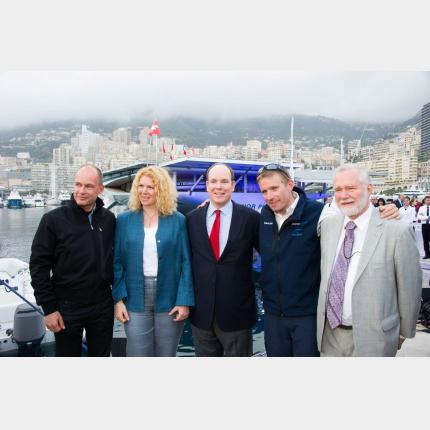 Arrivée du bateau PlanetSolar à Monaco