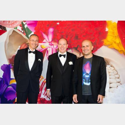 Inauguration de l'exposition Marc Quinn à Monaco