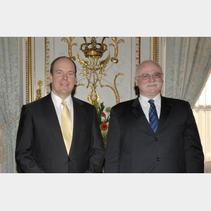 Remise des Lettres de créance de S.E. M Janez SUMRADA, Ambassadeur Extraordinaire et Plénipotentiaire de la République de Slovénie auprès de la Principauté de Monaco