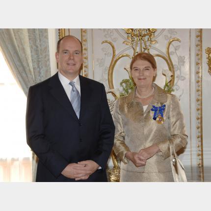 Remise des Lettres de créance de S.E.Mme Penelope Anne Wensley, Ambassadeur Extraordinaire et Plénipotentiaire d'Australie auprès de la Principauté de Monaco