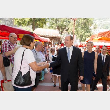 LL.AA.SS. le Prince Albert II et la Princesse Charlène ont inauguré le Nouveau Marché de la Condamine