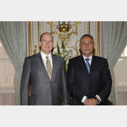 Remise des Lettres de créance de S.E.M. Nasser KAMEL, Ambassadeur Extraordinaire et Plénipotentiaire de la République Arabe d'Egypte auprès de la Principauté de Monaco