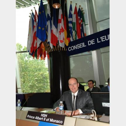 H.S.H. Prince Albert II at the Council of Europe