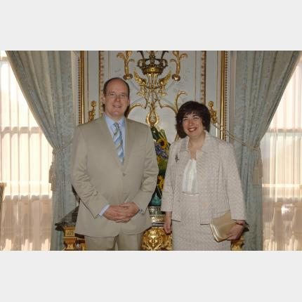 Remise des Lettres de créance de S.E.Mme Victoria Ann CREMONA, Ambassadeur Extraordinaire et Plénipotentiaire de la République de Malte auprès de la Principauté de Monaco