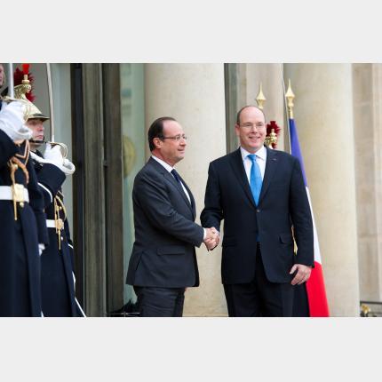 Visite de travail de S.A.S le Prince Albert II à l'Elysée