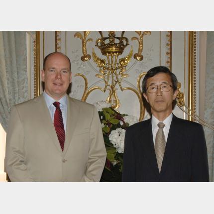 Remise des Lettres de créance de S.E.M. Yutaka IIMURA, Ambassadeur extraordinaire et...