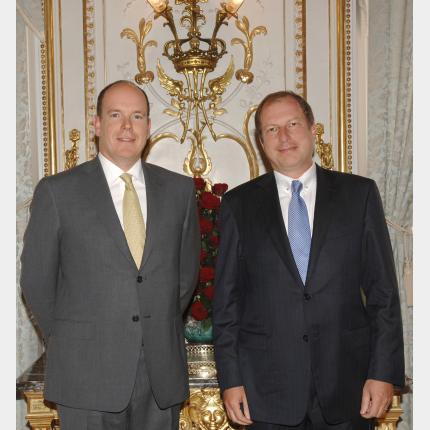 Remise des lettres de créance de S.E.M. Eric DANON Ambassadeur Extraordinaire et Plénipotentiaire de la République Française auprès de la Principauté de Monaco