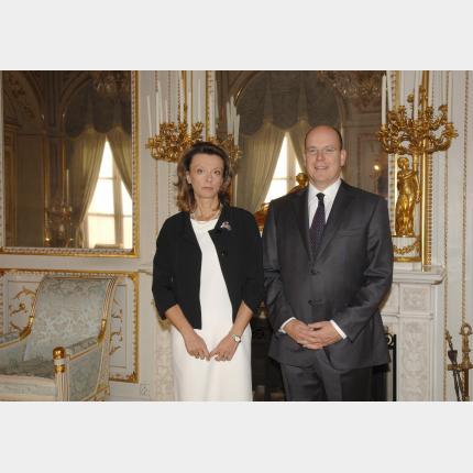 Remise des Lettres de créance de S.E. Mme Milica PEJANOVIC-DJURISIC, Ambassadeur Extraordinaire et Plénipotentiaire de la République du Monténégro auprès de la Principauté de Monaco
