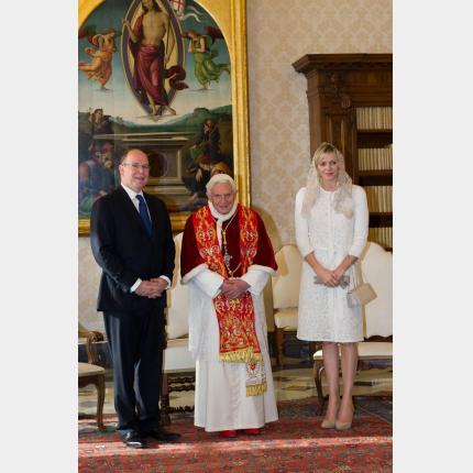Audience du Couple princier au Vatican