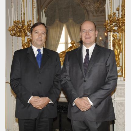 Remise des Lettres de créance de S.E.M Ulrich LEHNER, Ambassadeur Extraordinaire et Plénipotentiaire de la Suisse auprès de la Principauté de Monaco