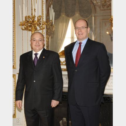 Remise des Lettres de créance de SEM Xavier ESPOT MIRO, Ambassadeur extraordinaire et...