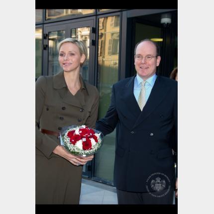 Visit by the THS the Prince and Princess to the new premises of the Lycée Technique et Hôtelier de Monaco