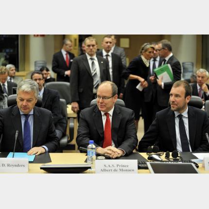 Déplacement de S.A.S. le Prince à Bruxelles