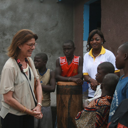 H.R.H. the Princess of Hanover towards Kinshasa's street children