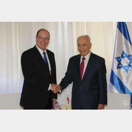Trip by HSH Prince Albert II to Jerusalem for Shimon Peres's birthday