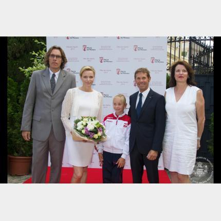 Participation de S.A.S. la Princesse Charlène à la fête des Sports