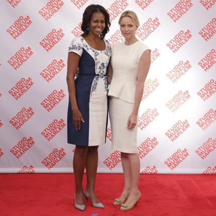 S.A.S. la Princesse Charlène au déjeuner offert par Mme Barack Obama