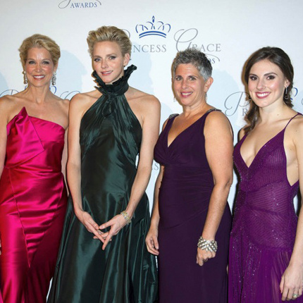 Presence of HSH Princess Charlene of Monaco at the Gala evening for the Princess Grace Foundation in New York
