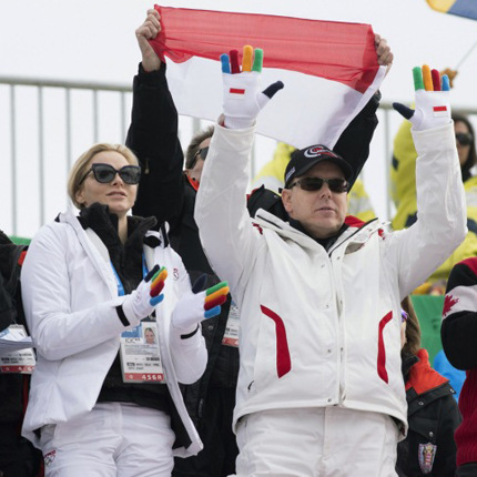 THS the Prince and Princess at the opening ceremony for the Winter Olympics in Sochi