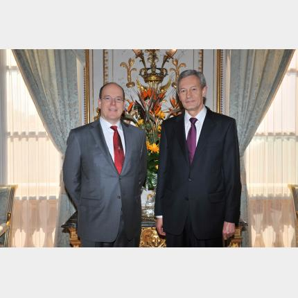 Remise des Lettres de créance de S.E.M Kostiantyn TYMOSHENKO, Ambassadeur extraordinaire et plénipotentiaire d'Ukraine auprès de la Principauté de Monaco