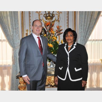 Remise des Lettres de créance de S.E.Mme Marcia Yvette GILBERT-ROBERTS, Ambassadeur de Jamaïque auprès de la Principauté de Monaco