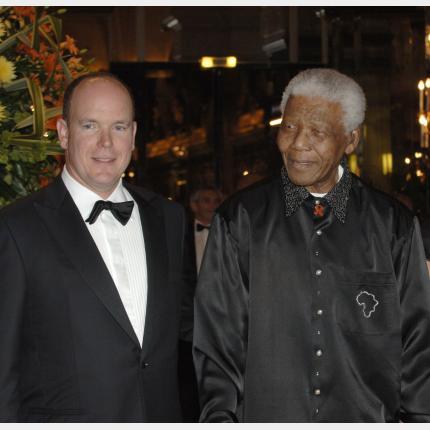 Nelson Mandela et S.A.S. le Prince Albert II de Monaco ensemble pour un monde meilleur