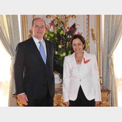 Remise des Lettres de créance de S.E.Mme Pilar ARMANET, Ambassadeur Extraordinaire et Plénipotentiaire du CHILI auprès de la Principauté de Monaco