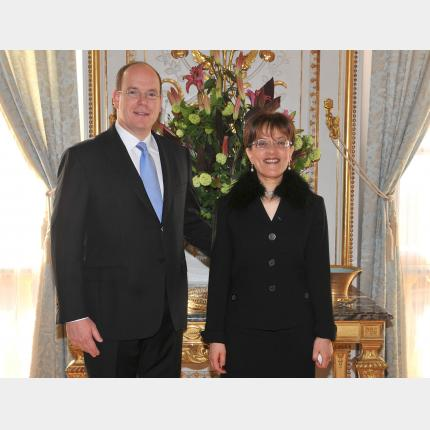 Presentation of Credentials by H.E. Mrs Odile REMIK-ADIM, Ambassador Extraordinary and Plenipotentiary of the French Republic to the Principality of Monaco.