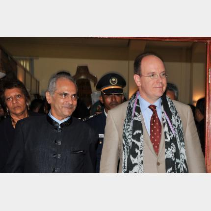 Visit by HSH Prince Albert II to Timor Oriental