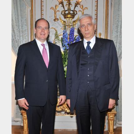 Presentation of Credentials by H.E. Mr Baudouin de la KETHULLE de RYHOVE, Ambassador Extraordinary and Plenipotentiary of BELGIUM to the Principality of Monaco.