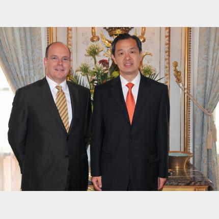 Presentation of Credentials by H.E. Mr KONG Quan, Ambassador Extraordinary and Plenipotentiary of Republic of CHINA to the Principality of Monaco