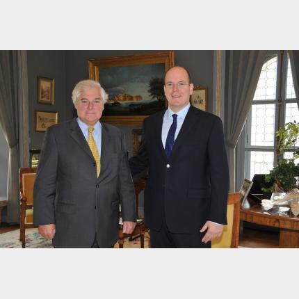 S.A.S. le Prince Albert II a reçu en audience Monsieur Pascal Clement
