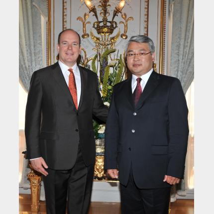 Presentation of Credentials by H.E. Mr Radnaabazar ALTANGEREL, Ambassador Extraordinary and Plenipotentiary of Republic of MONGOLIA to the Principality of Monaco