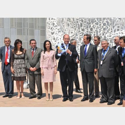 S.A.S le Prince Albert II à Saragosse pour l'Exposition Internationale «Zaragoza 2008»
